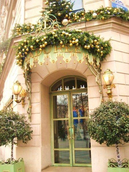 """Ladurée - Avenue des Champs-Élysées/  Merry ℂhristmas ☆ ღღ ☆¸.✿¸.•°*""""˜ƸӜƷ˜""""*°•.•.¸ღ¸☆´ ¸.✿DOORWAY"""