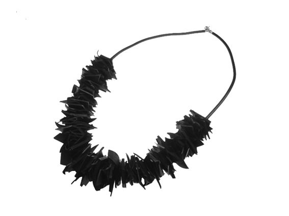 KAAOS necklace made out of recycled rubber