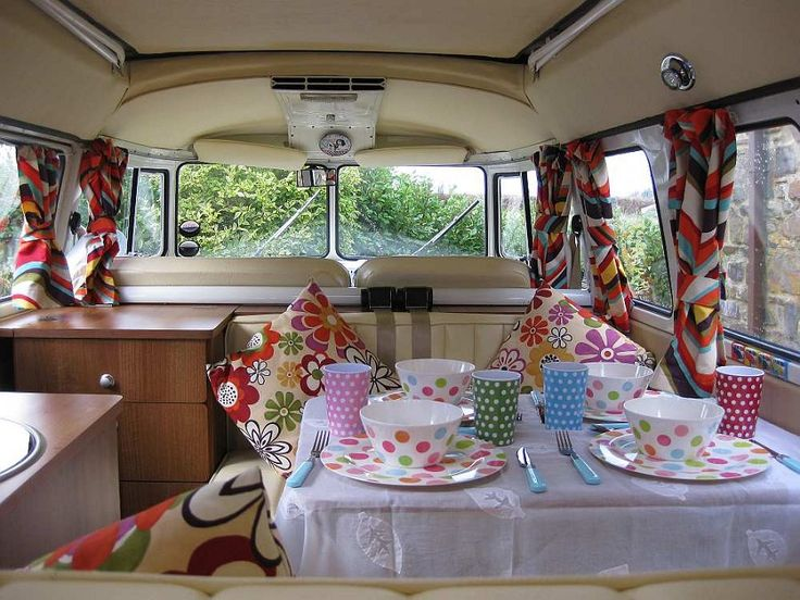 7 best images about campervan interiors clever ideas for Vw camper van interior designs