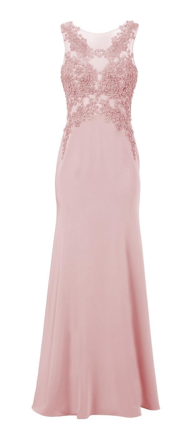 Feito de tecido em 100% poliéster, o Vestido com Bordado Columbia é muito confortável, clássico e elegante. O cor-de-rosa em tom clarinho realça a beleza feminina, se destaque em todo tipo de pele e t...