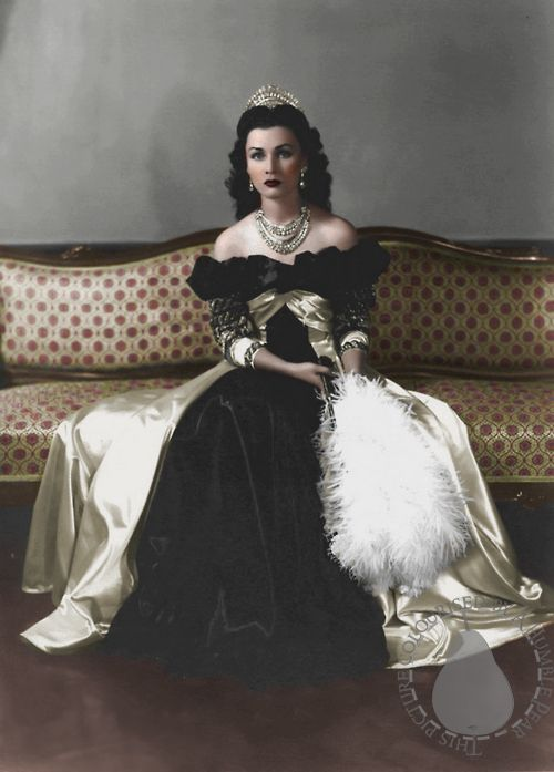 Queen Fawzia Fuad of Iran and Princess of Egypt c. 1939