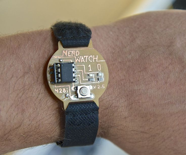Hello! Welcome to another Other Machine project tutorial! I'm Sam DeRose, a former Other Machine Co. Summer Intern. I created the Nerd Watch last summer while working at OMC.The Nerd Watch displays the time in binary when the button is pushed. The watch shows the hour and minutes by flashing two LEDs in sequence to represent two 4-bit binary numbers (in big-endian format). Here's a great description of how to read binary numbers.I'll show you how to build a Nerd Watch from scratch with a…