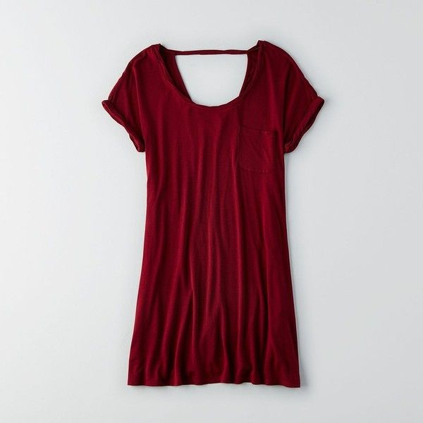 AEO Soft & Sexy T-Shirt Dress ($30) ❤ liked on Polyvore featuring dresses, maroon, sexy t shirt dress, maroon dress, t shirt dress, american eagle outfitters and american eagle outfitters dresses