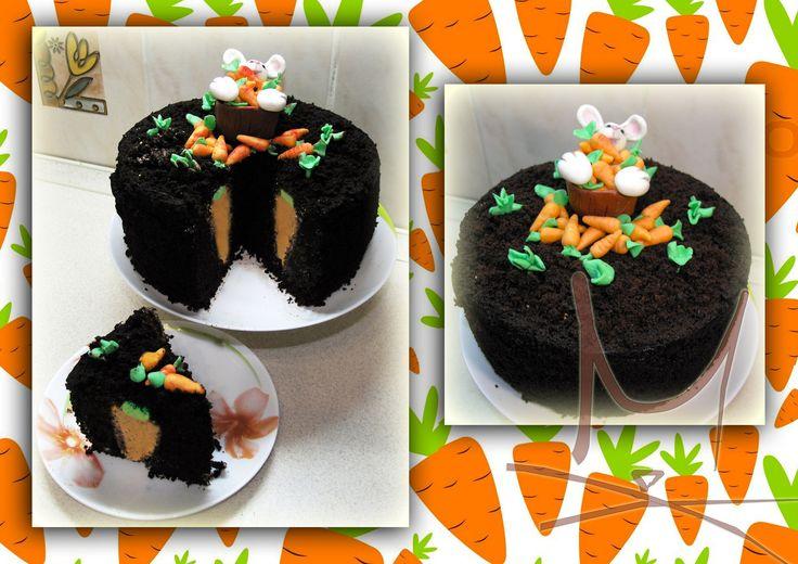 Торт сюрприз. Морковка. Cake surprise inside.Carrot