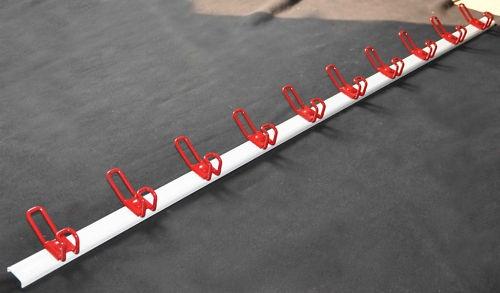 Garderobe Kleiderhaken Wandgarderobe weiß, rote Haken komplett Metall 1500 mm, | eBay