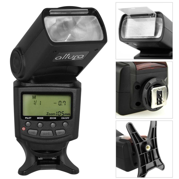 Altura Speedlite TTL Flash w/ LCD Screen for Canon EOS Rebel T5i T4i T3i T3 SL1 #AlturaPhoto