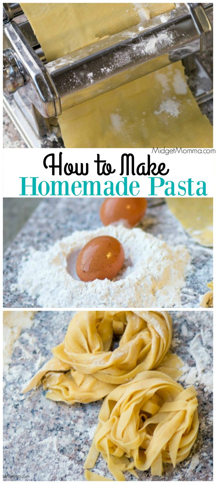 Homemade Pasta. Make fresh pasta right at home with these easy to follow step by step directions on how to make Homemade Pasta.