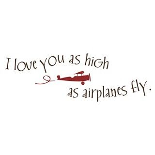 (for david) I love you as high as airplanes fly