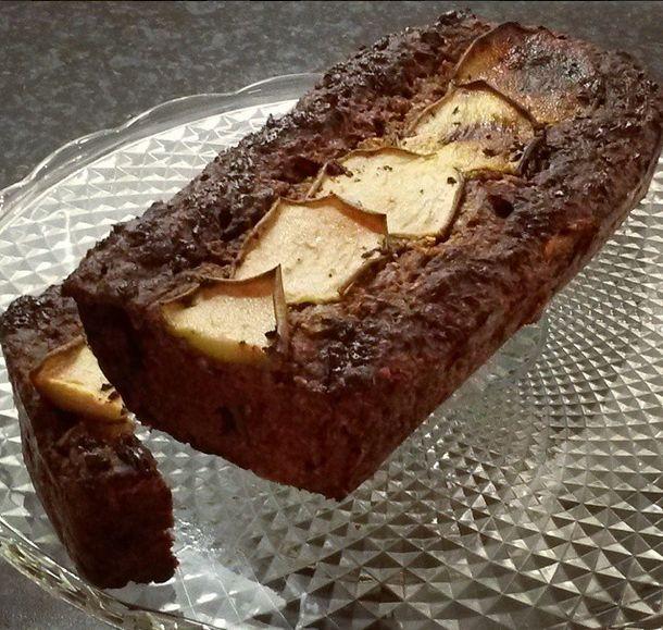 Kwarkbrood met peer  en chocolade