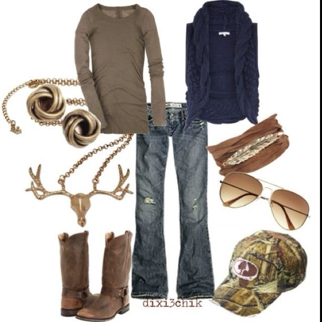 Southern Girl minus the camo hat and deer head necklace...
