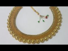 (DIY)HOW TO MAKE PARTY WEAR NECKLACE//PAPER NECKLACE//THE STUNNING HANDMADE'S.. - YouTube