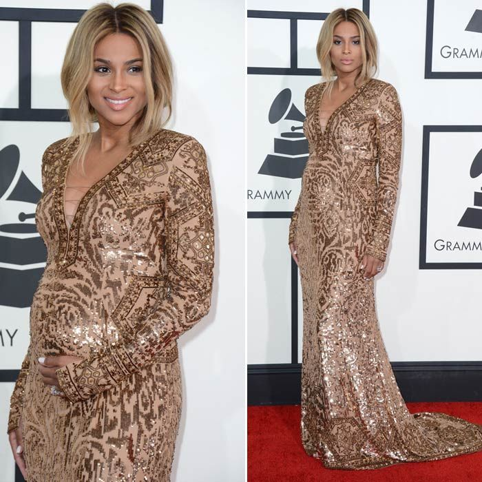 Let's have a look at the #Grammy #Awards 2014 red carpet best dressed! Ciara in Emilio Pucci