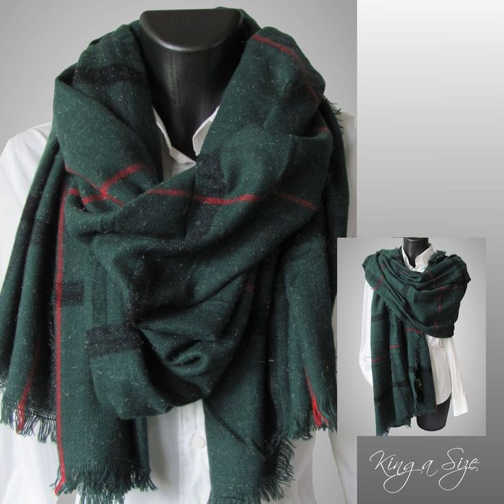 Schal Wollschal Winterschal Wool Touch Chic Bloggers Scarf - Karo Tartan M3