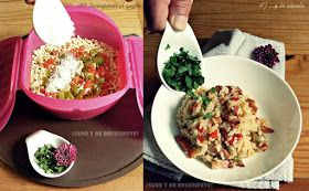 ¡Sano y de rechupete!: Cocinando con Lékué: Risotto con bacon y verduras