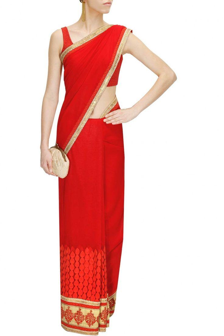 Red Colour Sabyasachi Saree – Panache Haute Couture