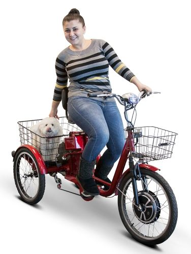 Purchase Your EWheels 500 Watt Adult Electric Powered Tricycle Motorized 3 Wheel Trike Bicycle - EW-29 Today! Dial 866-606-3991