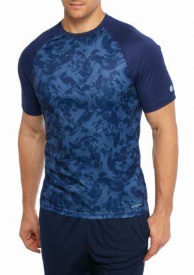 Sb Tech Men's Short Sleeve Marble Printed Crew Shirt -  - No Size