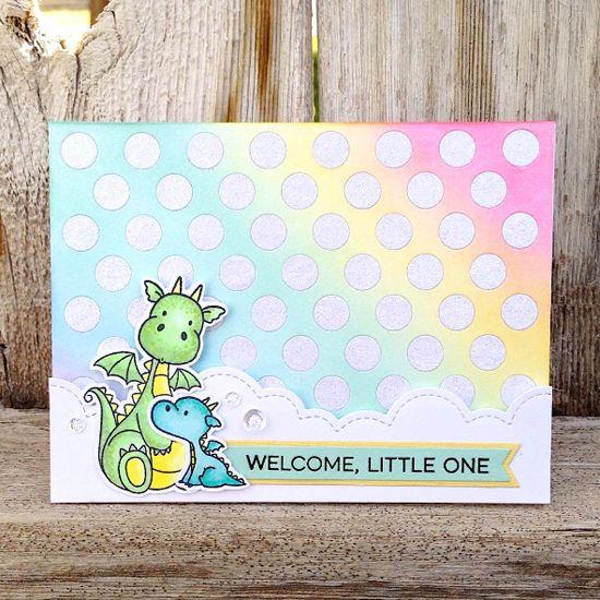 Essential Sentiments stamp set, Birdie Brown Magical Dragons stamp set and…