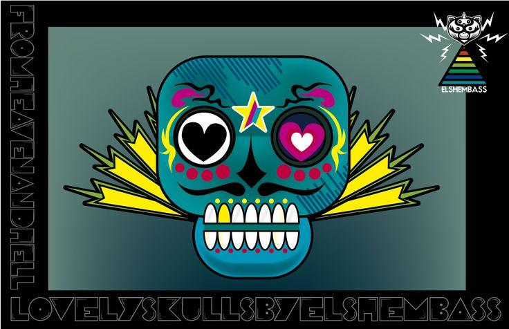 skulls 01 by elshembass, 2013