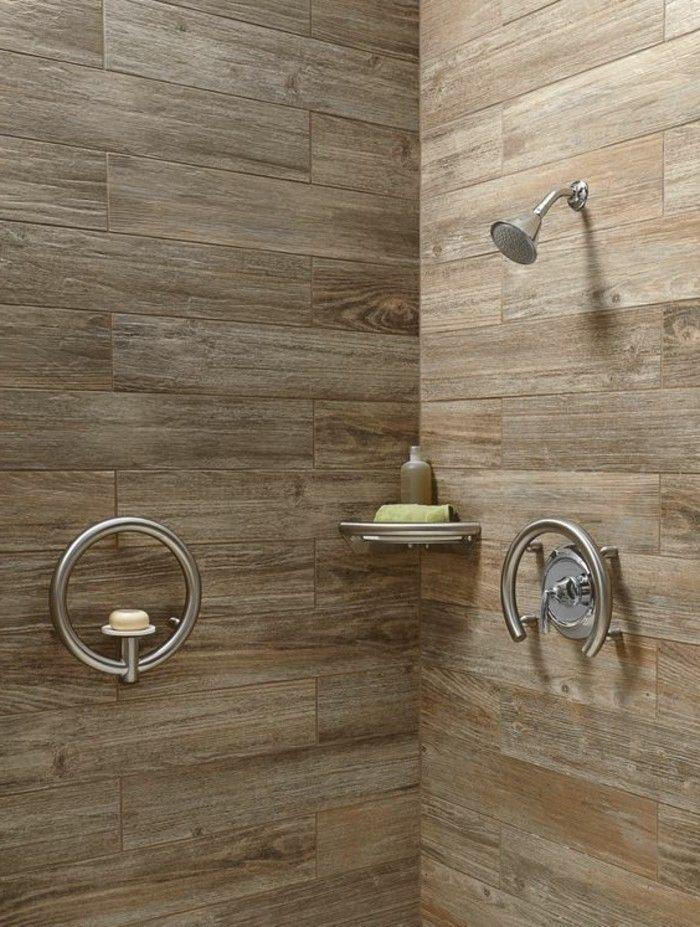 Oltre 25 fantastiche idee su piastrelle per doccia su pinterest bagni bagno con doccia e - Rivestimento bagno effetto legno ...