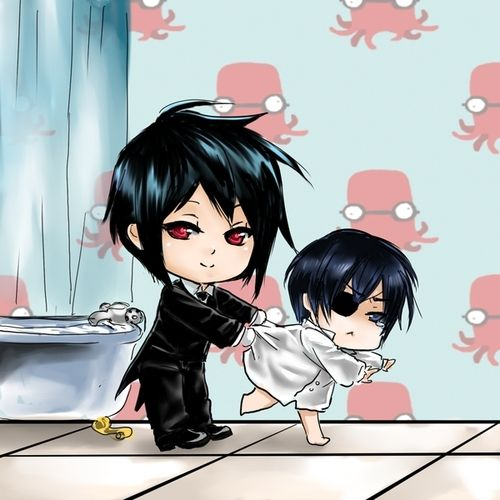 anime love chibi       Kuroshitsuji Manga Reading from Chapter 1 to 97 http://www.mangaeden.com/en-manga/kuroshitsuji/     Watch in English Kuroshitsuji S1 (Black Butler)   Season 1& 2 http://dubbedanime.net/anime/black-butler-english-dubbed   OVA's  http://www.funniermoments.com/tag.php?t=black-butler
