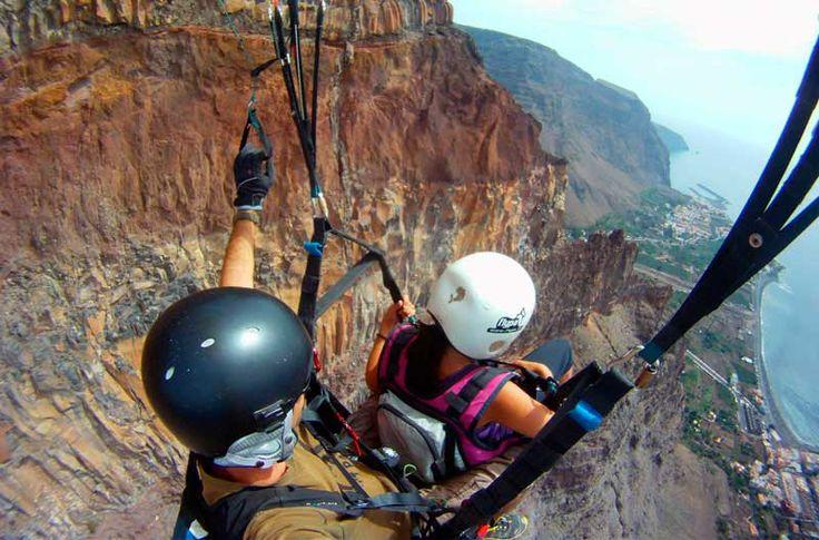 Vuelo en Parapente biplaza y Trekking sobre Valle Gran Rey en La Gomera