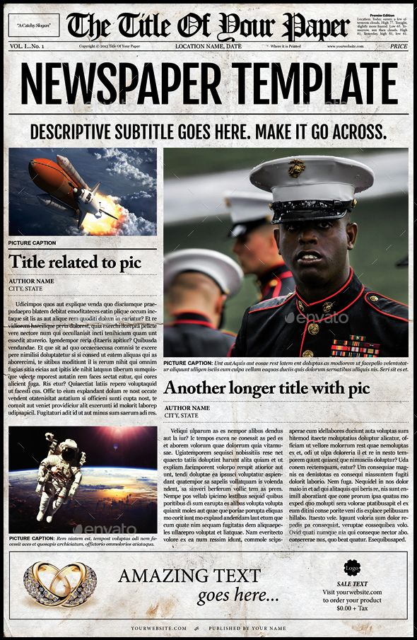 16 Best Download Indesign Newspaper Templates Images On Pinterest