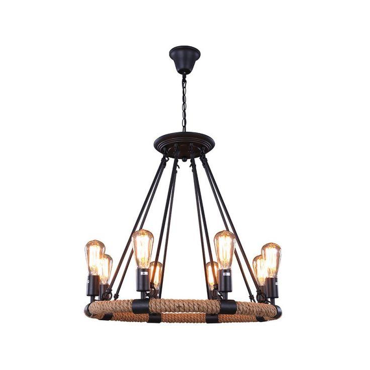 Best 25 rope pendant light ideas on pinterest lighting for Rustic lantern style light fixtures