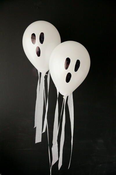 Hauntingly Easy Halloween Ghost Balloons