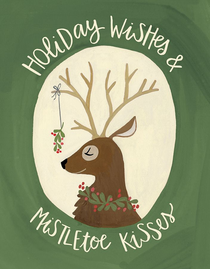 Mistletoe Reindeer card by One Canoe Two on Postable.com