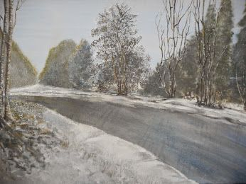 Winter in Deutschland - in Acryl auf Leinwand