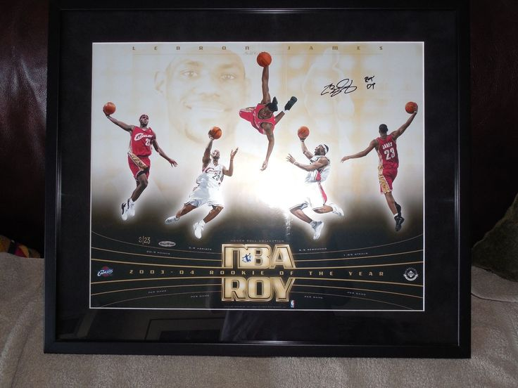 Lebron James Upper Deck Honor Roll Collage Rookie of The Year Autograph # 02/23Â