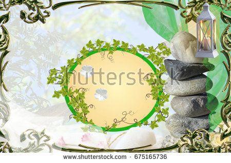 Wellness and spa background with green ornate frame, stones, lantern, flowers, towels, veils https://www.shutterstock.com/hu/image-photo/wellness-spa-background-green-ornate-frame-675165736?src=GK7TPfzOMgzoceLqIyiBAQ-1-0  Portfolio: https://www.shutterstock.com/g/Somogyi+Timea?rid=176104528&utm_medium=email&utm_source=ctrbreferral-link