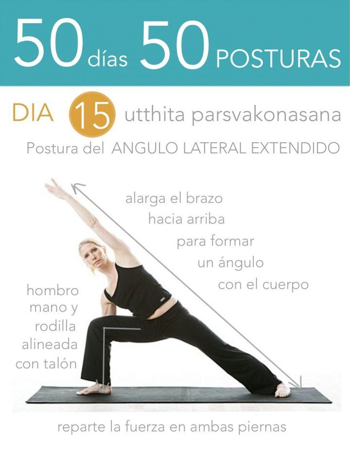 ૐ YOGA ૐ ૐ ASANAS ૐ    ૐ Utthita Parsvakonasana ૐ  50 días 50 posturas. Día 15. Postura del Ángulo Lateral Extendido.