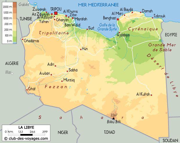 Carte de la Libye   Carte, Libye, Carte geographique