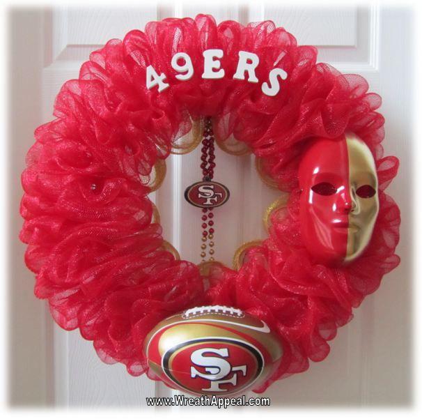 Category: DIY Decor. {49ers wreath #1} #EsuranceFantasyTailgate