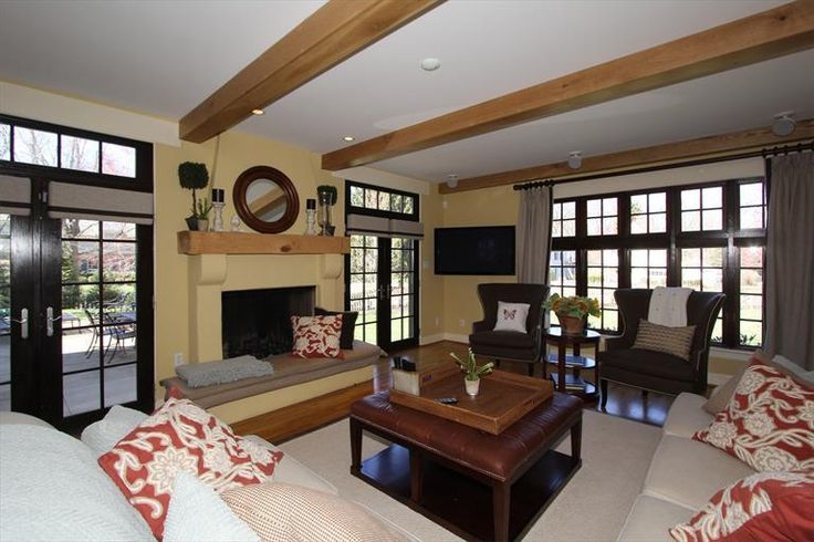 6700 Miami Bluff Dr Mariemont, OH 45227 Family room, beamed ceiling, fireplace