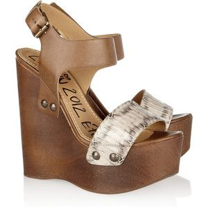 The cutest: Lanvin Watersnak, Leather Wooden, Fashion, Lanvin Wedges, Heels, Wedges Sandals, New Shoes, Wooden Wedges, Summer Wedges