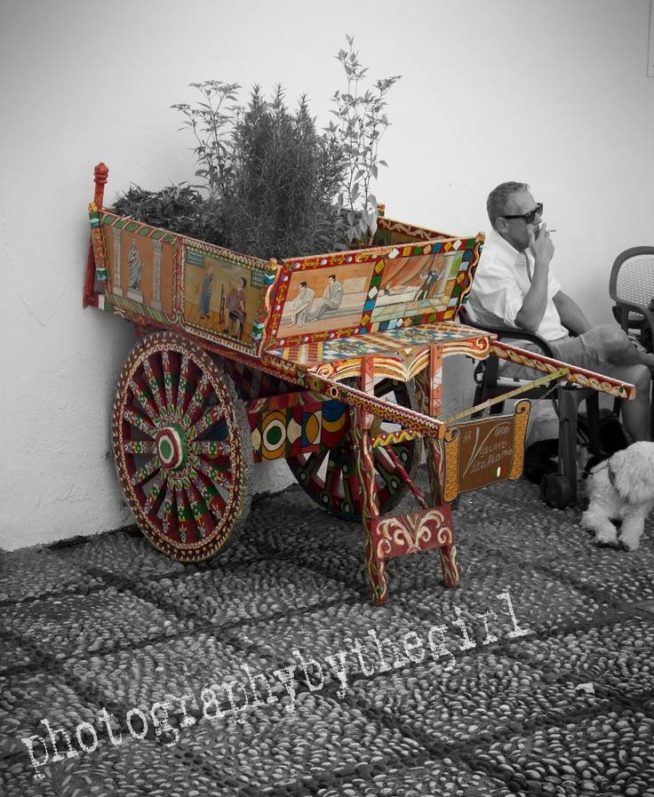 Italian Icecream cart in Nerja, Andalucia