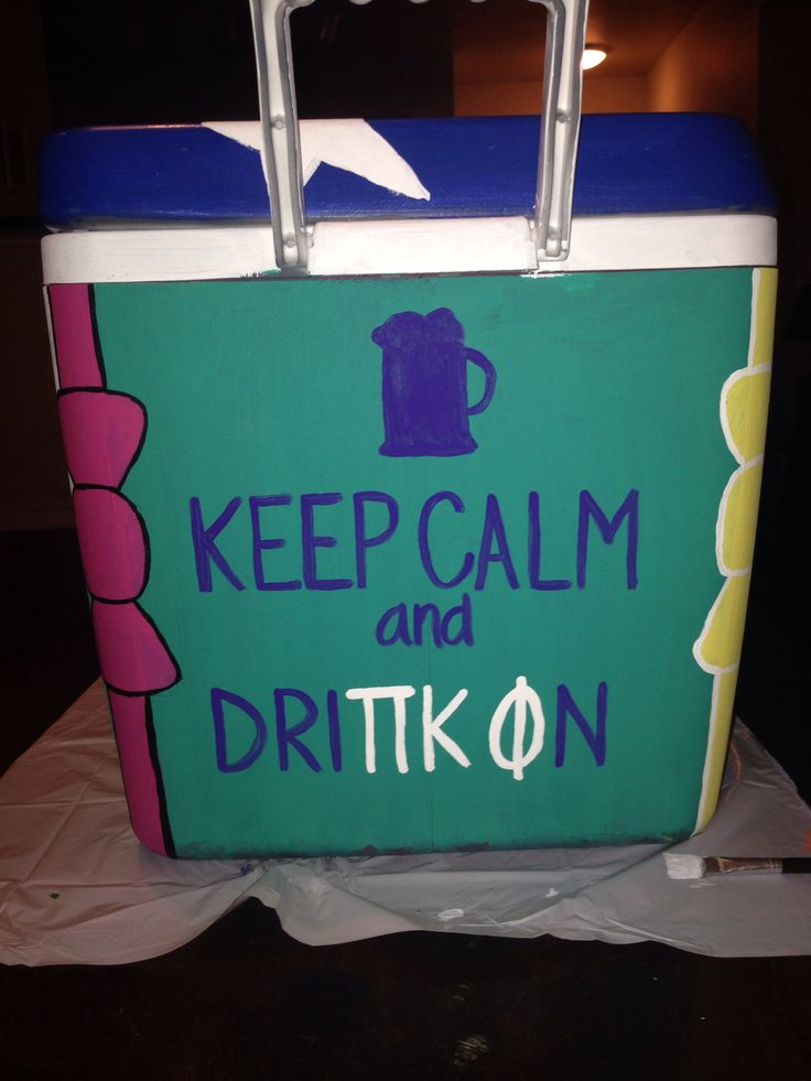 Painted Pi Kappa Phi Cooler