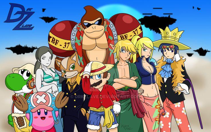 Super Smash Bros X One Piece By Drkzlave Deviantart Com On