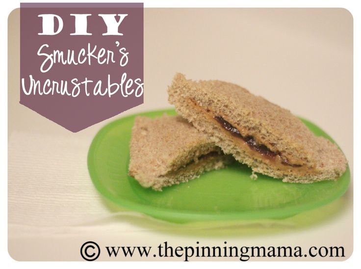 DIY Smuckers Uncrustables.  Make your own freezer PB for half the price and avoid all of the unpronouncable ingredients.