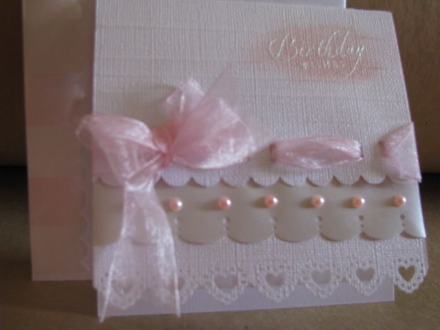 Birthday        chg color to all white or pink scallop