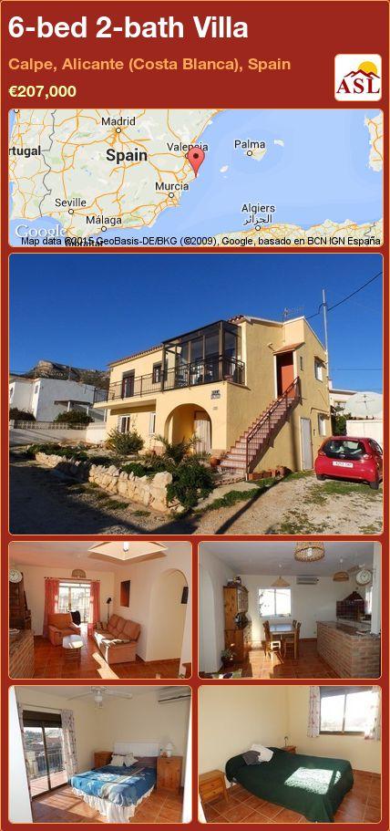 6-bed 2-bath Villa in Calpe, Alicante (Costa Blanca), Spain ►€207,000 #PropertyForSaleInSpain