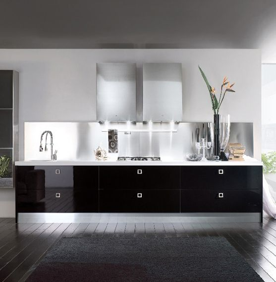 Cucine Moderne Bianche E Nere Ideas - harrop.us - harrop.us