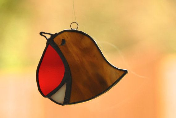 Stained glass christmas decoration  Robin by ScottishHandCrafts, £8.00