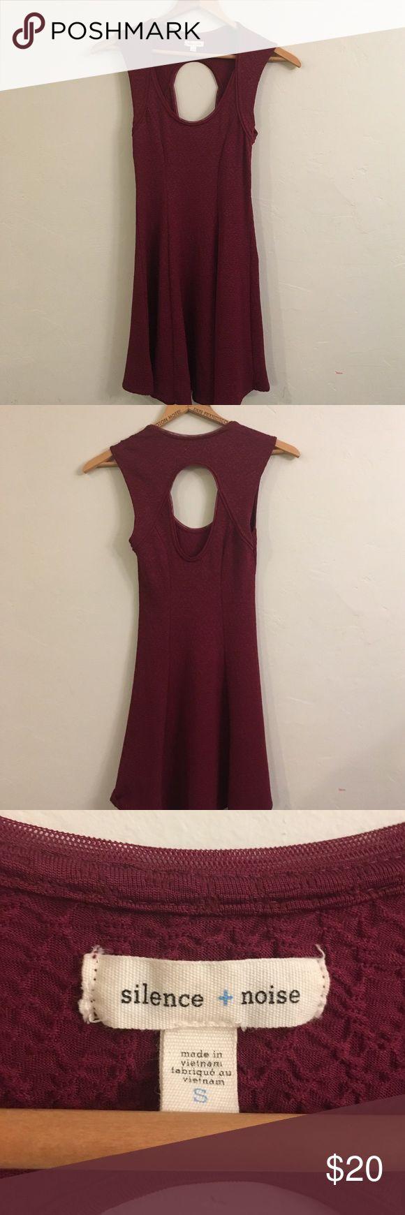 Silence + Noise Open Back Dress Maroon skater dress with open back. Like-new condition. silence + noise Dresses Mini