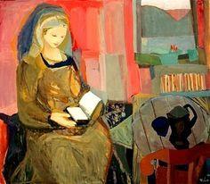 Kai Breder Fjell - Lesende Kvinne (Reading Woman), 1940 / Kai Breder Fjell (Norwegian, 1907