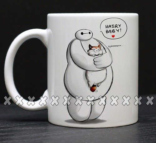 Baymax Hairy BabyFunny Coffee, Coffee Mugs, Unique Coffee Mugs