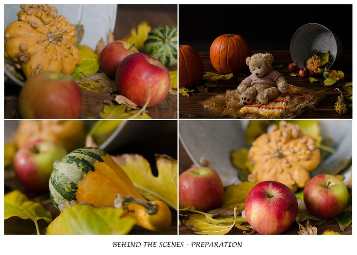 autumn/fall in the studio preparation baby photography